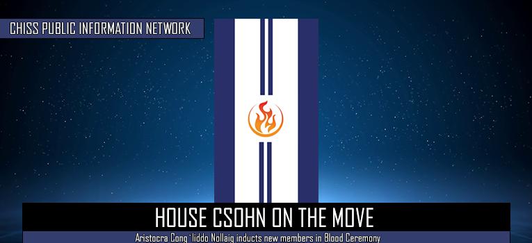 House Csohn on the move